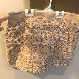 Dresses & Skirts - Nude crochet skirt